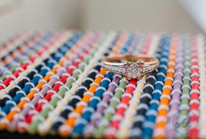 Помолвочное кольцо из розового золота