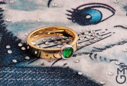Астрологическое кольцо из золота