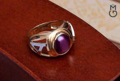 Мужское золотое кольцо на мизинец