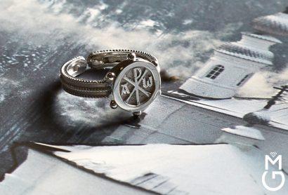Мужское платиновое кольцо