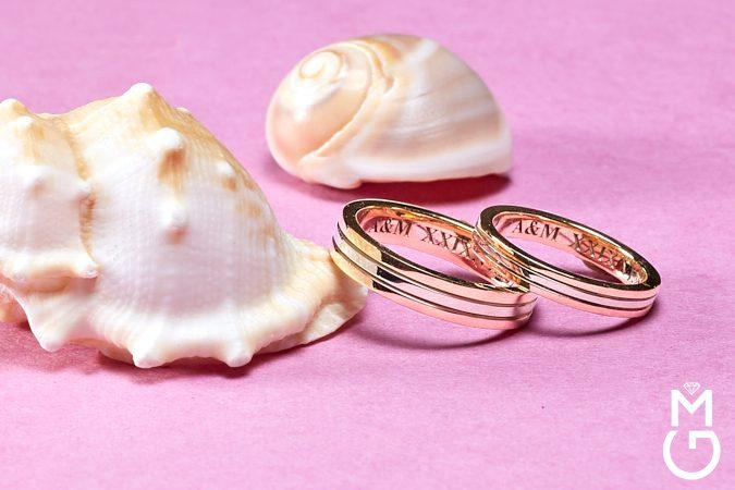 Обручальные кольца в стиле Trinity