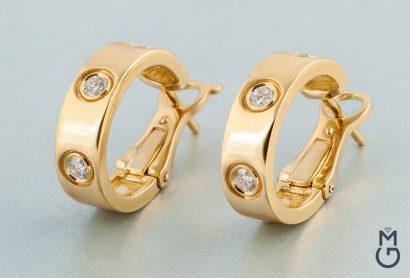 Золотые серьги Cartier Love
