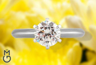 Помолвочное кольцо в стиле Тиффани