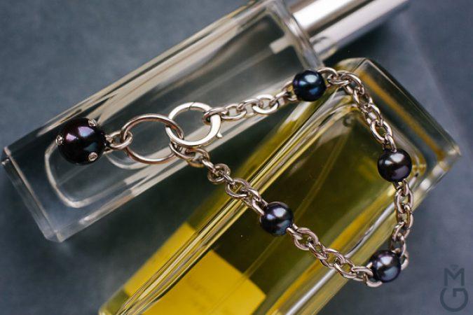 Золотой браслет с жемчугом и бриллиантами