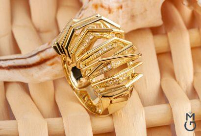 Кольцо дизайна Silk
