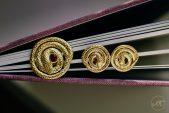 Винтажные золотые серьги