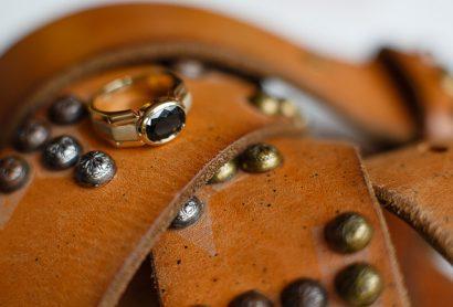 Мужское кольцо из желтого золота