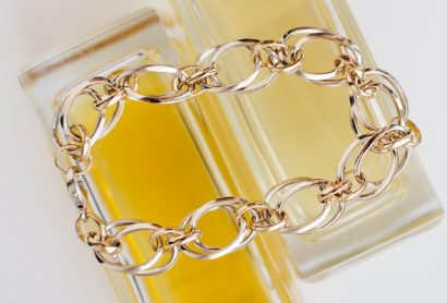Женский золотой браслет ручной работы
