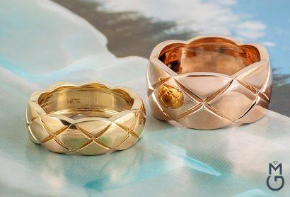 Золотое кольцо дизайна Coco Crush