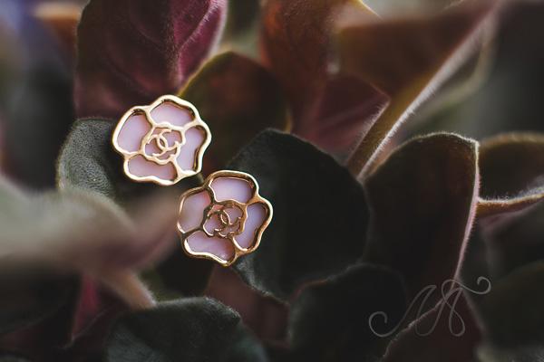 Авторские серьги из розового золота
