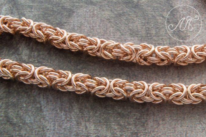 Золотая цепочка плетения «Лисий хвост»