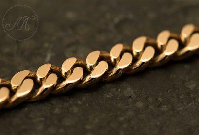 Золотая цепочка «Панцирного» плетения