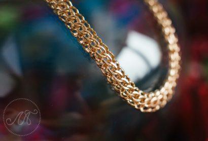 Золотая цепочка плетения «Питон»