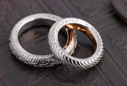 обручальные кольца из золота и платины