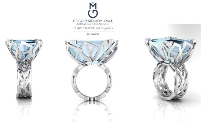 Дизайнерское золотое кольцо
