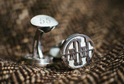 Серебряные запонки с инициалами