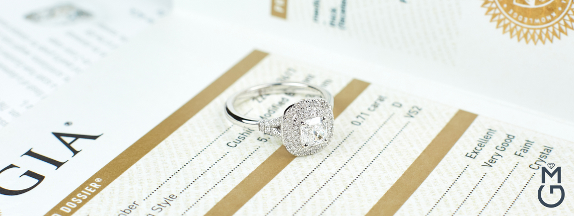 Помолвочное кольцо ручной работы